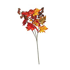 Maple Leaf Pumpkin Berry Spray [Set of 4]