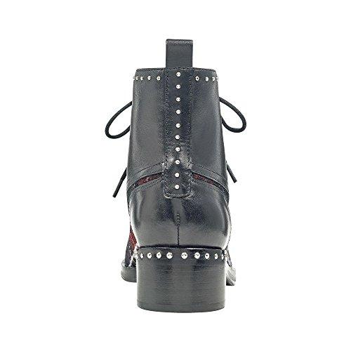 Marc Fisher Kvinna Cassidey Läder Stängd Tå Ankel Mode Stövlar Svart Multi Tyg