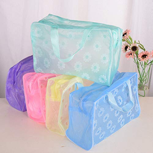 Random Color Clearly Travel Makeup Bag Cosmetic Toiletry Zip Case Storage Pouch]()