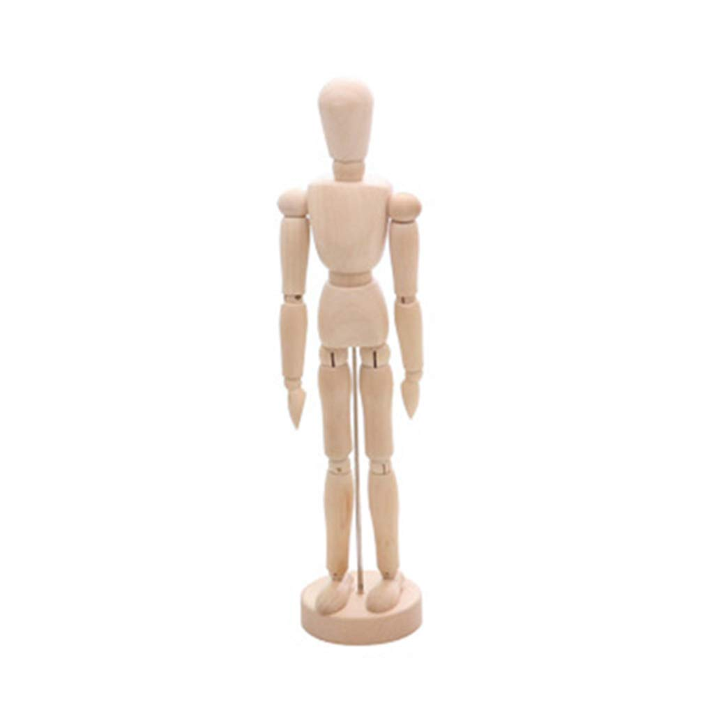 7.8 Male,Female /& Kid,Perfect for Drawing The Human Figure Model Props Wood Artists Manikin with Base