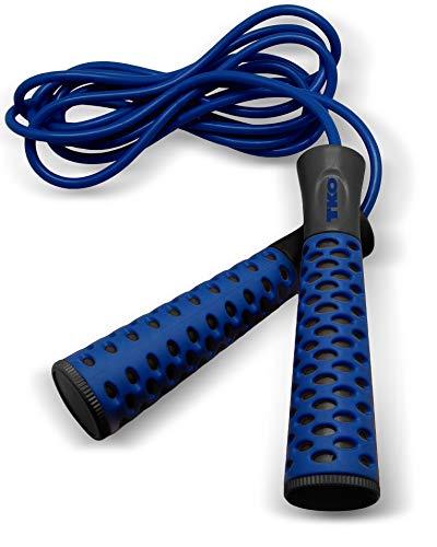 TKO Soft Grip Jump Rope (Black/Blue)]()