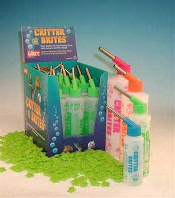Small Animal Supplies Critter Brites Water Bottles 32Oz 6Pk Dayglow Colors