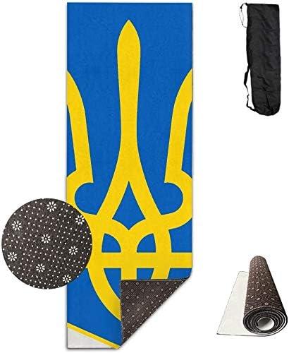 LJB Tapis de yoga de luxe Motif insigne ukrainien