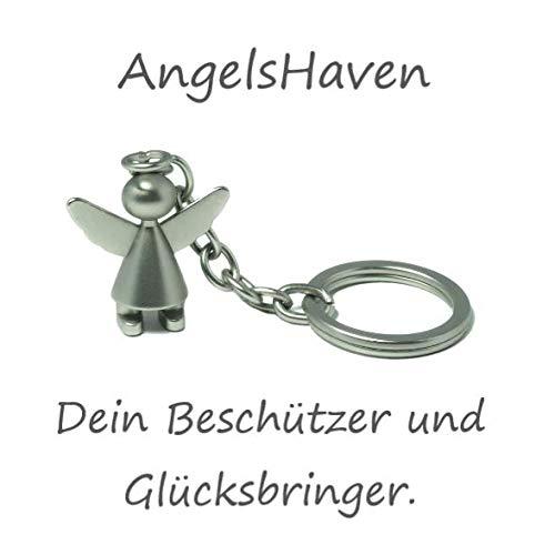 Llavero de /ángel de la Guarda para Coche Regalo de /ángel para Mujer AngelsHaven Hombre ni/ño y Toda la Familia Amuleto de la Suerte ni/ña para ni/ños