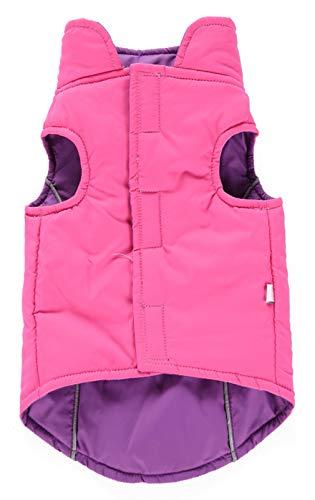 (La Vogue Pet Dog Waterproof Reversible Jacket Winter Warm Outfits Coat Small Dogs)