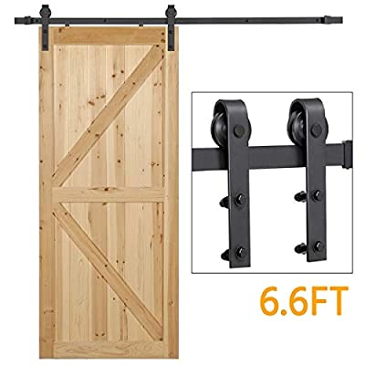 Yaheetech Heavy Duty Sliding Barn Door Hardware Kit -Smoothly and Quietly -Easy to Install -Includes Step-by-Step Installation Instruction