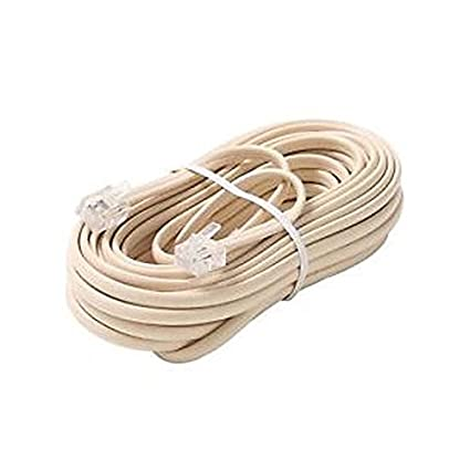 Amazon Com 15 Ft Phone Cord Ivory 4 Conductor Rj11 Modular Line