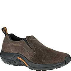 Kick back and relax after a long day on the trails with the men's Jungle Moc from Merrell. Designed with comfort in mind, the men's Jungle Moc slip-on shoe is versatile enough to wear around the campsite or to the pub. Available in a variety ...