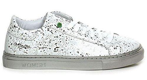 WOMSH Sneaker Drops Silver Bianco Vitello S170246 rrSwRT