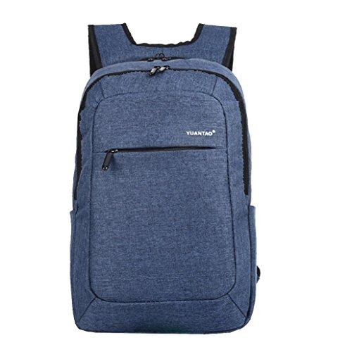 Hometom Women Men Unisex Fashion Travel Satchel School Bag Backpack Laptop Bag (Blue)
