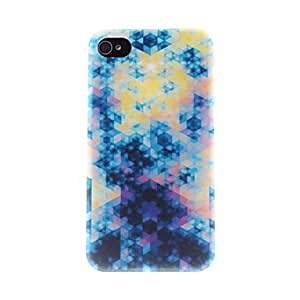 Colourful Diamonds Pattern PC Hard Case for iPhone 4/4S