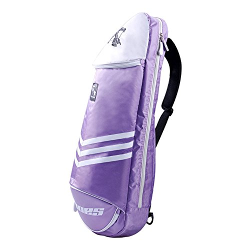 Waterproof Badminton Racket Cover Racquet Bag Sling Bag Backpack Sports - Purple by Kylin Express