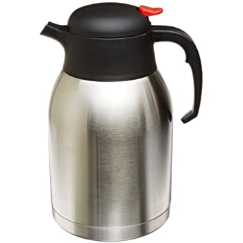 Genuine Joe GJO11956 Stainless Steel Everyday Double Wall Vacuum Insulated Carafe, 2L Capacity