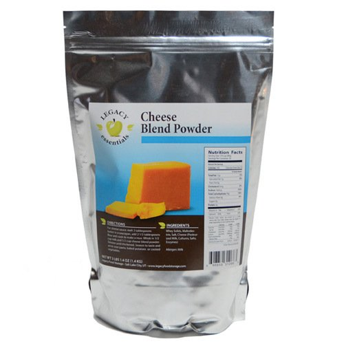 Legacy Essentials Long Term Dried Cheese Powder - 15 Year Shelf Life Powdered Cheese Blend for Emergency Food Storage Supply (Quantity 1) by Legacy Premium Food Storage (Image #3)