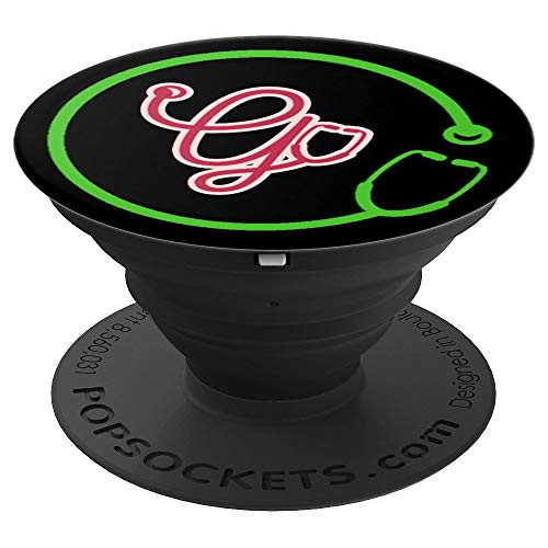 Monogram G with Stethoscope - Doctors Nurses Veterinarians - PopSockets Grip and Stand for Phones and Tablets