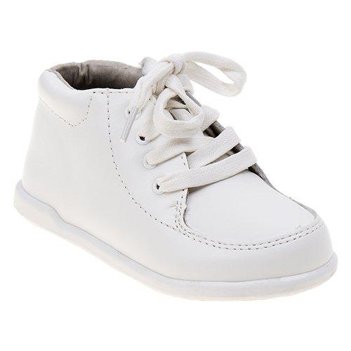 White Leather Pram Shoes - 7