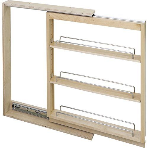 (Hardware Resources BFPO3SC Base Cabinet Filler Pullout, Maple)
