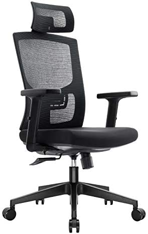 Komene Ergonomic Office Mesh Chair Adjustable High Back and Armrets Chair Computer Desk Chair