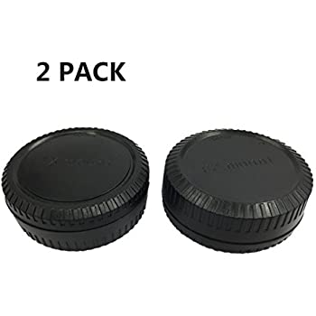 LXH 2 PACK Camera Front Body Cap & Rear Lens Cap Cover Set for Fuji X Mount Camera Fits Fujifilm X-Pro1, X-PRO2,X-E1, X-M1, X-A1, X-E2, and X-T1 X-T2, X-T10, X-A3 Cameras and XF, XC Lens