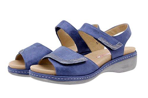 e4ad365b00b Calzado mujer confort de piel Piesanto 1802 Sandalia Plantilla Extraíble  cómodo ancho Marino ...
