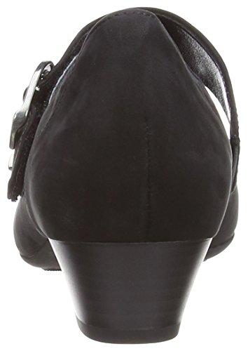 para Nubuck Gabor mujer Zapatos Black Oil Black 54pSApq