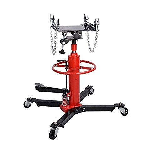 UNIBEST 0.5 Ton 1100LBS Hydraulic Transmission Jack Stand Gearbox Lifter Hoist 2 Stage