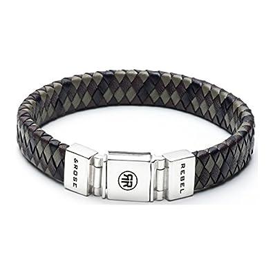 367b5cc4bc8a37 Rebel and Rose pour homme bracelet cuir multicolore RR de l0015 N 23 ...