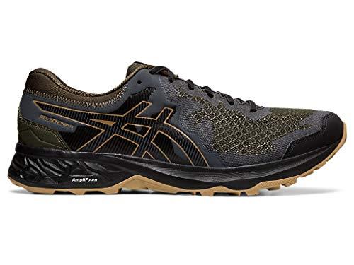 ASICS Men's Gel-Sonoma 4 Trail Running Shoes, 10M, Olive Canvas/Black