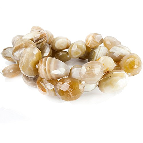 Caramel Agate (Caramel Banded Agate Faceted Nugget Beads 15 inches 15 pieces)