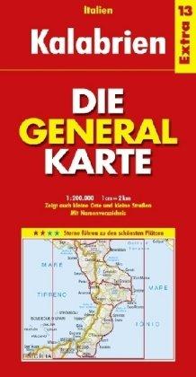 Die Generalkarte Italien Extra 13 Kalabrien 1:200.000