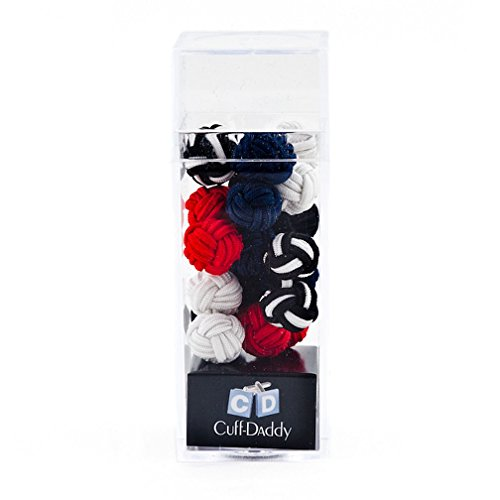 Cuff-Daddy Silk Knot Cufflinks Gift Set - 5 Pairs