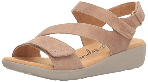 Easy Spirit Women's Kailynne2 Wedge Sandal, Taupe Fabric, 8 M US (Wholesale Women Fashion Sandals)