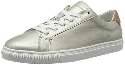 Tommy Women''s 041 Trainers light 10a2 Silver T1285ina Hilfiger r0wAqTnUr