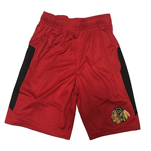 Chicago Blackhawks Outerstuff Youth Automation Athletic Shorts (Youth Small)