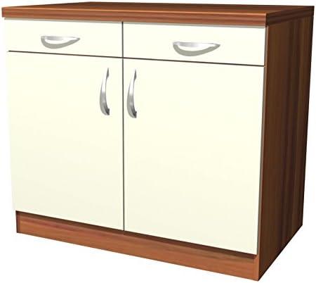 Küchen Unterschrank Sienna 100 cm Vanille Zwetschge Dekor