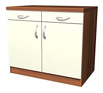 Küchenunterschrank  Küchen Unterschrank Sienna 100 cm Vanille Zwetschge Dekor: Amazon ...