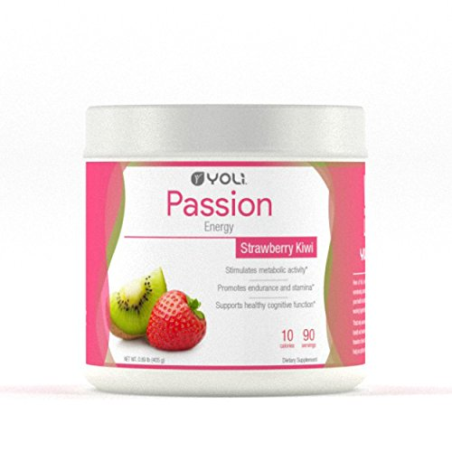 Yoli Passion Energy Drink – Sugar Free – Sweetwened with Stevia – Long Lasting Healthy Energy Without Jitters (Canister, Kiwi Strawberry)