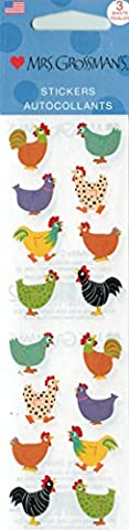 Mrs. Grossman's Stickers - Chubby Chickens - Mrs Grossmans Sticker Strips