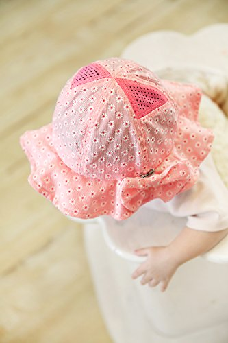 f7f6a1ad3 Gongzhumama Baby Girl's Sun Hat with Hair Bow Sun Protection ...