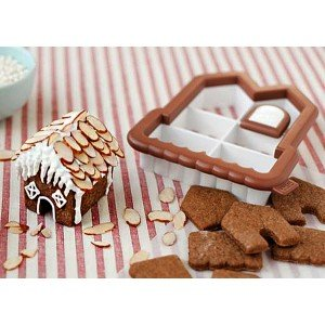 3D Mini Gingerbread House Cookie Cutter Kit