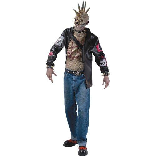 Punk Zombie Adult Costume - Standard