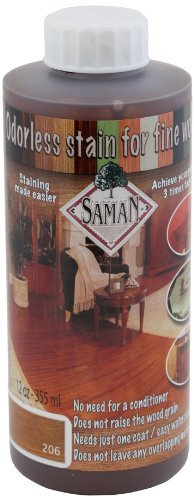 SamaN TEW-206-12 12-Ounce Interior Water Based Stain for Fine Wood, Amaretto by - Stain Amaretto