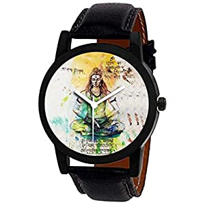Lazma Shiva Analogue Printed Multicolour Dial Men's Watch