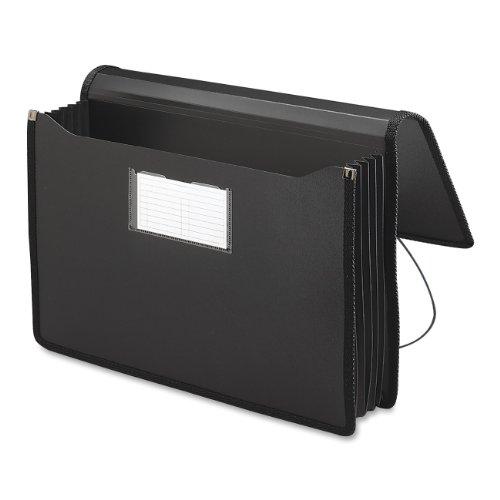 [Smead Expanding Premium Wallet with Elastic Cord, 16.5 x 10.25 Inches, Black (71510)] (Elastic Cord School Wallet)