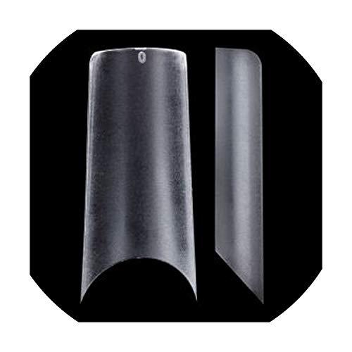(Ultra Thin Clear Half Cover Acrylic False Nail Tips ABS material Square Shape False Nail Tips,NDK-BT-C02-CKG )