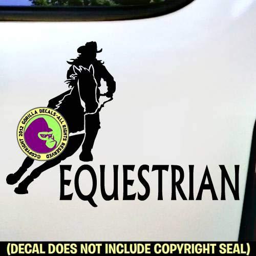 Horse Rider Racer Love Rodeo Vinyl Decal Sticker E EQUESTRIAN Barrel Racing