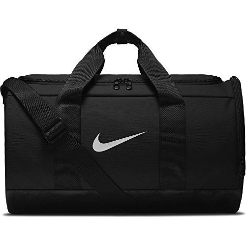 NIKE Team Women's Training Duffel Bag, Black/Black/White, One Size (Women Training Bag)