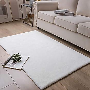 Amazon Com Ashler Soft Faux Rabbit Fur Chair Couch Cover