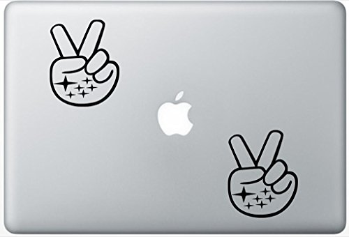 Subaru Peace Sign Hand Wave LeporeDecals0566 Set Of Two (2x) , Decal , Sticker , Laptop , Ipad , Car , Truck