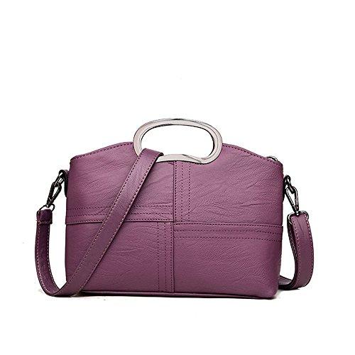 De Bolso Purple Meaeo Bolso Bolso Del Hombro De Rojo Diagonal Bolso Costura Anillo x6RRwzq